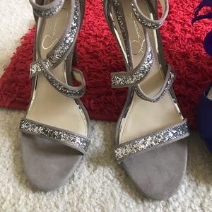 Jessica Simpson sequin heels